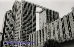 Miami_B&W_Film-6 (photomedic88) Tags: blackandwhite blackandwhitefilm kodaktmax400 bw miamiskyline rickenbackercauseway nikonn90s nikonfilmcamera daviderdman wwwerdmansphotographycom