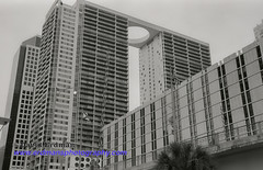 Miami_B&W_Film-5 (photomedic88) Tags: blackandwhite blackandwhitefilm kodaktmax400 bw miamiskyline rickenbackercauseway nikonn90s nikonfilmcamera daviderdman wwwerdmansphotographycom