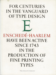 Joh. Enschedé typefounders, Haarlem, Nederland : press advert from Alphabet, 1964 (mikeyashworth) Tags: mikeashworthcollection koninklijkejohenschedé enschedé netherlands nederland haarlem 1964 typeface typography lettering graphicdesign advertising kynochpress birmingham rshutchings jamesmoran alphabet