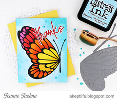 Butterfly Thanks (akeptlife) Tags: memorybox craftdie bigwingbutterfly wing card cardmaking thanks jottedscriptthanks word worddie papercrafting