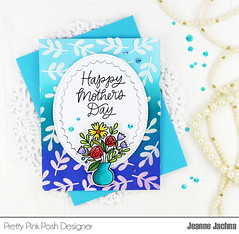Ombre Mothers Day (akeptlife) Tags: prettypinkposh card cardmaking ombre papercrafting mom mother mothersday scallopoval leaves stencil