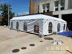 60 foot marquee for @novanthealth new MRI mobile unit... side walls, market lights, and fans.. thanks so much to Novant for their constant business with us 🙌 (Venue Services) Tags: rental event venue services instagram wedding party corporate tents nc place chairs tables plus salisbury linens rentals settting
