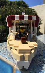 Front View of Boat (DejaDoink) Tags: disneyland lego jungle cruise 1950s disney moc adventureland dock ride amusement park