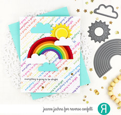 Rainbow (akeptlife) Tags: reverseconfetti somanysentiments overtherainbow rainbow card cardmaking papercrafting stamping stamp craftdie diagonalstitchescoverpanel coverpanel coverplate