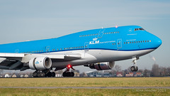 KLM 747-400 (Michael Tendler) Tags: aircraft ams amsterdam avgeek aviation eham fuji fujifilm planes schiphol xt2