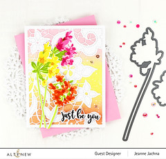 Just Be You (akeptlife) Tags: altenew card cardmaking stamping stamp papercrafting floral doodledlace coverplate coverpanel delicateclusters craftdie