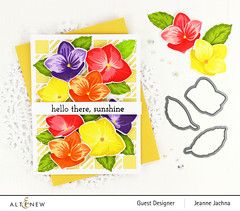 Sunshine (akeptlife) Tags: altenew card cardmaking stamping stamp floral craftdie coverplate coverpanel basicblooms cozyflannel hello sunshine papercrafting