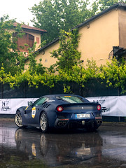 TDF in the Rain (Mattia Manzini Photography) Tags: ferrari f12 tdf f12tdf supercar supercars cars car carspotting carbon nikon d750 v12 blue automotive automobili auto automobile italy italia modena millemiglia ferraritribute rain