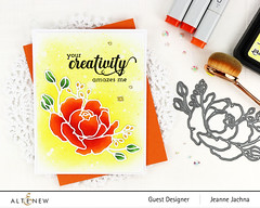 Creativity (akeptlife) Tags: altenew card cardmaking stamping stamp papercrafting craftdie floral rose finebouquet fancygreetings creativity
