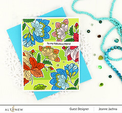Fabulous Friend (akeptlife) Tags: altenew card cardmaking stamping stamp papercrafting floral ornatefoliage fabulous friend brocade