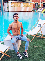 IMG_3128h (Defever Photography) Tags: male model afghan afghanistan malemodel fit sixpack 6pack ghent belgium fashion portrait afghanmalemodel athlete zebrastraat decirk zebra beach pool poolboy citybeach architecture