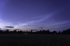 Nlc2 (Nické Eriksson) Tags: noctilucentclouds nlc coluds sky night river field