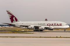 A7-APB Qatar Airways Airbus A380-861 lining up on Runway18 for departure to Doha (DOH / OTHH) @ Frankfurt Rhein-Main (FRA / EDDF) / 18.07.2019 (oliver.holzbauer) Tags: a7apb qatar a380 airbus qatarairway plane flugzeug runway18 runway18de eddf fra airbus380 planespotting