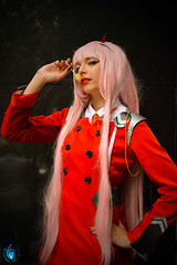 Zero Two - Darling in the Franxx (Ibrahim D Photography) Tags: zerotwo darlinginthefranxx cosplaygirls cosplay cosplayer comiccon comicdomcon athens greece greek greekcosplayer animecosplay anime animegirls red redcoat pinkhair 002 darlinginthefranxxcosplay