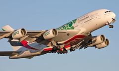 A6-EOW - Airbus A380-861 - LHR (Seán Noel O'Connell) Tags: emirates a6eow airbus a380861 a380 a388 heathrowairport heathrow lhr egll dxb omdb 27r ek32 uae32 expo2020 aviation avgeek aviationphotography planespotting