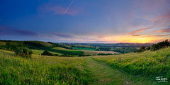 Summer sunset from Old Winchester Hill over the Meon Valley, South Downs National Park, UK (Julian Gazzard) Tags: grass meon color nature dawn beauty panorama hill summer downs eastmeon butser outdoors green landscape tree uk valley view sun daylight sunlight scene sunset east sky scenery sundown outdoor south noperson evening natural dusk spring countryside blue colorful hants beautiful travel cloud mountain hampshire fairweather meadow light tourism southdowns field