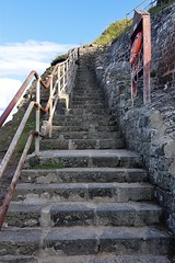 Several Steep Seaside Steps (Gilli8888) Tags: cameraphone samsung s7 galaxy northtyneside northsea coast coastal whitleybay tyneandwear coastline steps stairs stairway linear