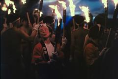 Akabira fire festival (threepinner) Tags: hokkaidou hokkaido northernjapan summer akabira festival firefestival canon ae1 nfd negative iso400 selfdeveloped reversal negaposidevelopment plustek opticfilm 8100 赤平 火祭り 北海道 fd 135mm f25