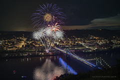 Happy Independence Day! (Chad E Mason) Tags: fireworks pyro pyrotechnic pyrotechnics spi bloom market street bridge steubenville ohio river city town village night low light d850 nikon 2470vr timing long exposure cable release trigger no filter