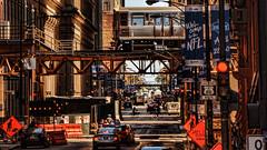Chicago street (Miradortigre) Tags: usa street chicago city ciudad calle estados unidos illinois urban train loop urbano tren life luz color