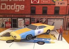 Papercraft Joe Dirt movie car 1969 Dodge Charger Daytona with David Spade (official inspection station) Tags: dodge daytona charger joedirt mopar plymouth chrysler papercar papermodel papercraft