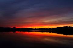 Sunset on Lake Victoria (UrbanAstronaut.Bike) Tags: sunset minnesota velvia fuji fujixe3 fujifilm lake water nature clouds color