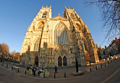York Minster Cathedral (Infinity & Beyond Photography: Kev Cook) Tags: york minster cathedral goldenhour 8mm samyang fisheye photos england