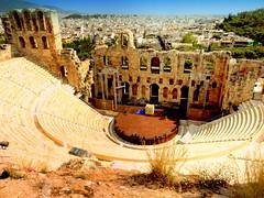 The Odeon of Herodes Atticus (dimaruss34) Tags: newyork brooklyn dmitriyfomenko image sky clouds skyline greece athens acropolis theatre citypanorama buildings trees ruins historiclandmark