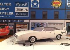 Papercraft 1970 Plymouth Superbird (official inspection station) Tags: dodge plymouth superbird satellite roadrunner gtx mopar