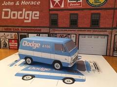 Papercraft Dodge A100 Tradesman van (official inspection station) Tags: dodge a100 plymouth mopar van trademan