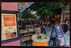 Aiolou & athinaidos street. (Dr_Babis) Tags: nikon d610 fx nikon1635mmf4vr wide athens attiki greece hellas restaurant outdoor city street