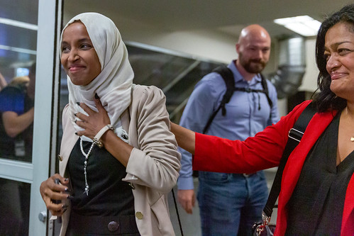 Representative Ilhan Omar arrives is gre by Lorie Shaull, on Flickr