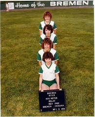 1983 - girls 400 meter relay
