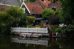Edam (Julysha) Tags: edam reflection summer thenetherlands noordholland july town canal 2019 acr garden d850 evening sigma241054art fens boat