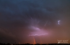Double rainbow and lightning (TylerSchlittPhotography) Tags: mowx canon photography rainbow lightning sunset flickr sunsetw amazing colorful art
