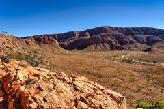 Ormiston Pound landscape (NettyA) Tags: australia centralaustralia larapintatrail nt northernterritory ormistongorgeandpoundwalk ormistonpound outbackaustralia redcentre tjoritjiawestmacdonnellnationalpark westmacdonnellranges worldexpeditions bushwalk bushwalking