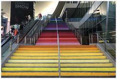 Fashion Show - Las Vegas NV (Markus Alydruk) Tags: lasvegas nv nevada usa america madhare sincity clarkcounty fashionshow mall shopping stores stairs steps rainbow colors lasvegasboulevard thestrip escalator
