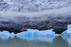 Glacier Grey (Black-Brick) Tags: chile patagonia glacier blue ice air shape floating white cloud mountain shine water grey torres del paine hiking time ancient explore light shadow moving