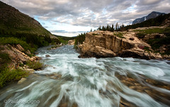 Glacier National Park, Many Glacier (Paul Rescigno) Tags: keepamericawild manyglacier waterfalls montana river usnationalpark glacier glaciernationalpark
