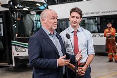 New buses added to help improve public transit in BC (BC Gov Photos) Tags: bctransit johnhorgan justintrudeau nextride bus buses climatechange electricbus publictransit publictransportation