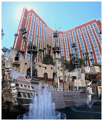 Treasure Island - S Las Vegas Boulevard (Markus Alydruk) Tags: lasvegas nv nevada usa america madhare sincity clarkcounty treasureisland casino hotel resort building skyscraper highrise tower pirateship pirates ship fountain buccaneers lasvegasboulevard thestrip