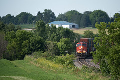 CN3067Curve2ByronWI7-13-19 (railohio) Tags: cn trains byron lomira wisconsin d750 071319 canadiannational et44ac byronhill intermodal