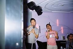 (ourutopia.) Tags: film kodak kodakfilm kodak200 olympus olympusltzoom filmphotography analog analogphotography guy man room singing party ktv karaoke フィルム