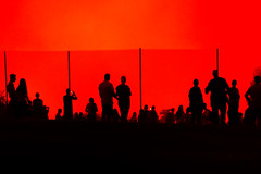 Spectators in Silhouette (Steven Green Photography) Tags: 4th districtofcolumbia fourthofjuly independenceday nationalmall salutetoamerica washingtondc celebration color event fence fireworks glow holiday mall outdoor people shadow silhouette streetphotography