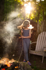 Camp (trois petits oiseaux) Tags: kids childhood camp summer smoke light lensbaby velvet56