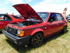 1985 Dodge Omni GLH Turbo (splattergraphics) Tags: 1985 dodge omni glh glhturbo mopar lbody fwdmopar carshow radwoodeast radwood newjerseymotorsportspark millvillenj