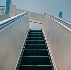 San Jose, California (bior) Tags: hasselblad500cm fujipro 160ns pro160ns mediumformat 120 lightrail vta blossomhill trainstation escalator