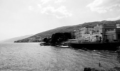 Kvarner (boriskombol) Tags: blackandwhite bw blancoynegro monochrome canon mono monocromo eau noiretblanc croatia monotone nb bn sw cb bnw opatija biancoenero 6d monocromatico schwarzweis ef24105l crnobijelo sea sky costa mer building clouds outside hotel coast mar meer outdoor edificio himmel wolken côte ciel cielo nubes nuages bâtiment gebäude küste