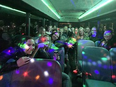 32 Seater Pink Party Bus Sydney