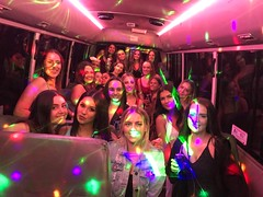 24 Seater Pink Party Bus Sydney